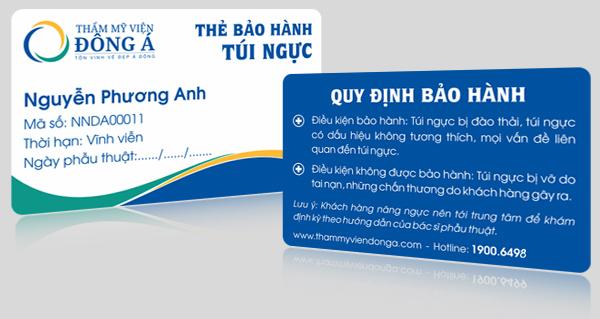 Thẩm mỹ viện nâng ngực nội soi an toàn cần cung cấp thẻ bảo hành cho khách hàng